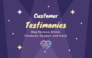 Customer testimonies Piddly Winx 2017