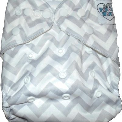 Greying Zags One Size Bamboo Cloth Diaper
