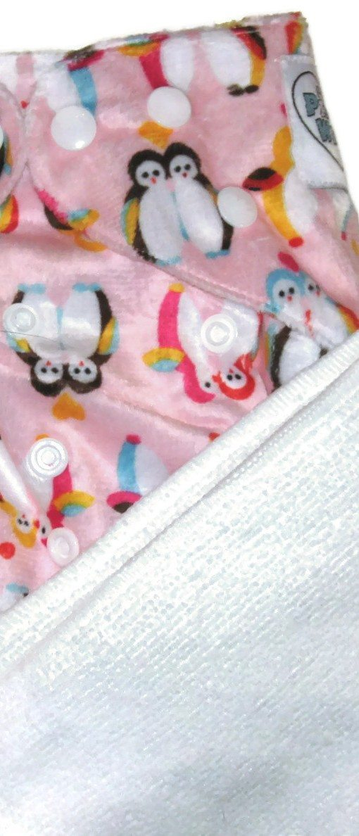 Peyton's Penguins Polyester Cloth Diaper
