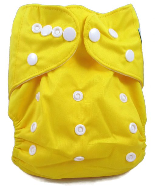 Lemon Yellow Polyester Pocket Cloth Diaper