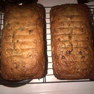 Final Product Zucchini Bread