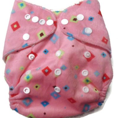 Pink Kaleidoscope One Size Bamboo Cloth Diaper