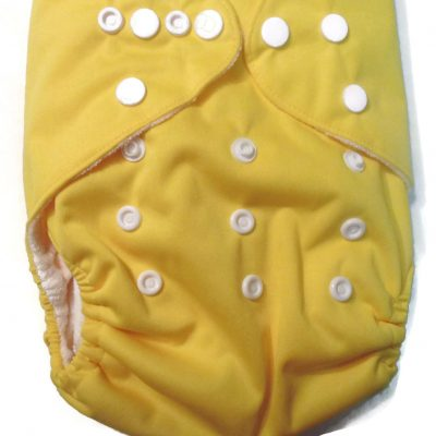 Lemon Yellow One Size Bamboo Cloth Diaper