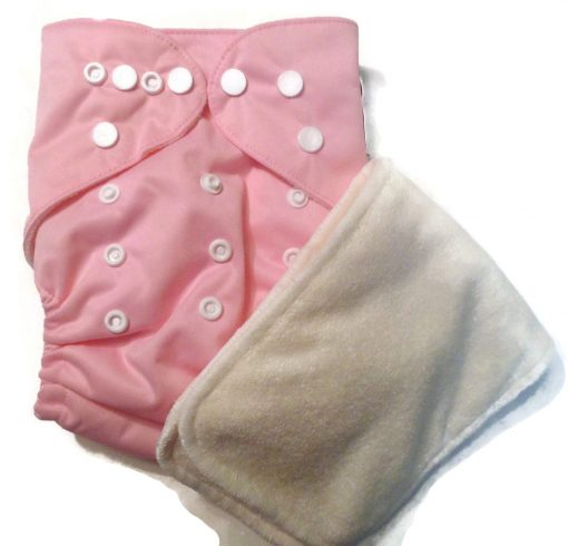 Cotton Candy Pink One Size Bamboo Cloth Diaper
