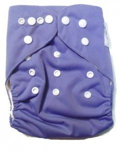Polished Lavender One Size Bamboo Cloth Diaper