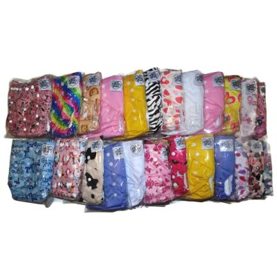Cloth-Diaper-Polyester-24-Pack-Diapers Only-Girl