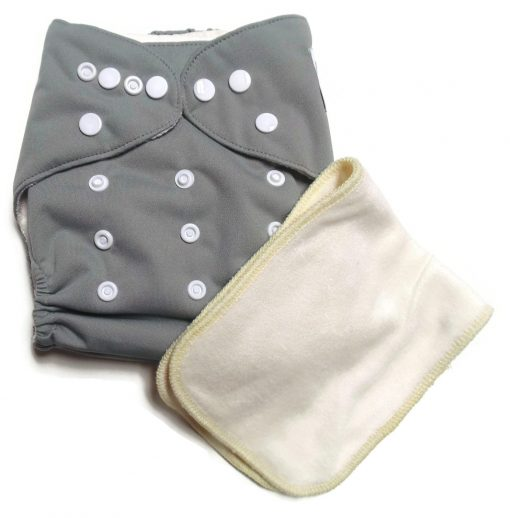 Grey Matters One Size Bamboo Cloth Diaper