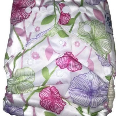 Beautiful Garden One Size Bamboo Cloth Diaper