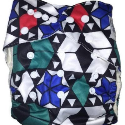 Geometry 101 One Size Bamboo Cloth Diaper