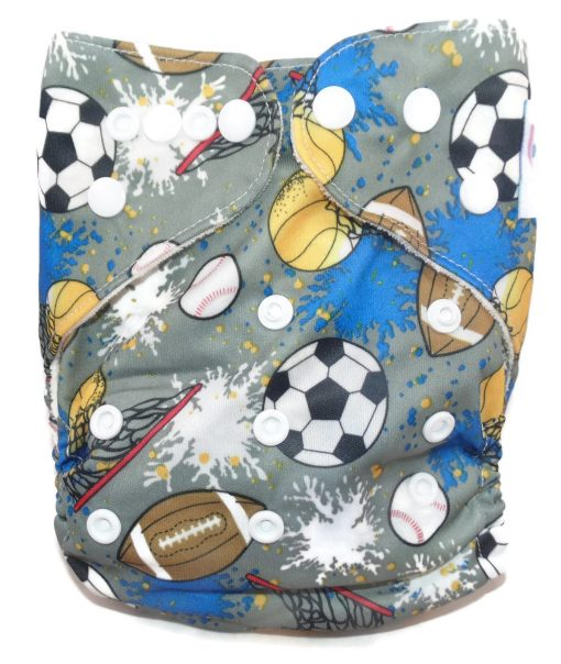 Sportsmom One Size Bamboo Cloth Diaper Piddly-Winx