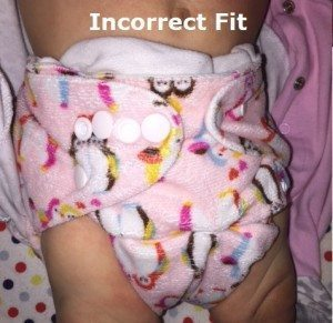 Not Wearing Diaper Correctly - Leaking