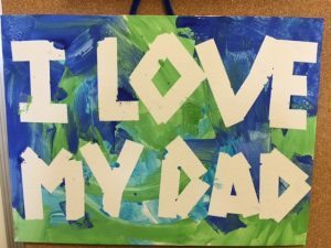 I Love My Dad Tape Art Photo