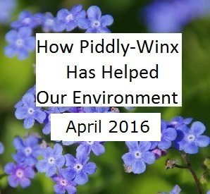 How Has Piddly-Winx Helped the Environment – April 2016 Update