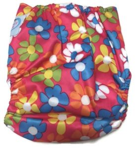 Lazy Daisies Polyester Cloth Diaper Back