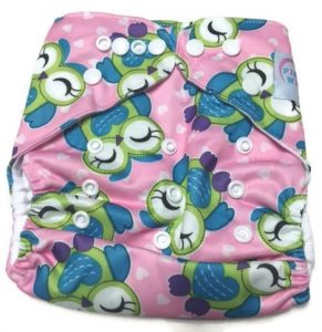 Owlin' Around Polyester Cloth Diaper Front