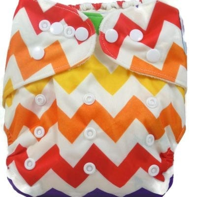Rainbow Chevron Bamboo Pocket Cloth Diaper
