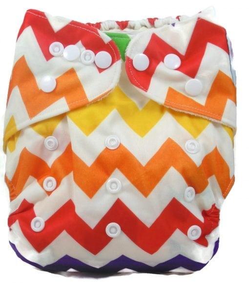 Rainbow Chevron Bamboo Pocket Cloth Diaper