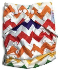 Rainbow Chevron Newborn Bamboo Pocket Cloth Diaper