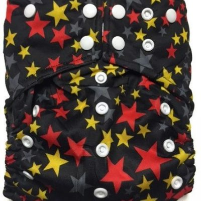 Starry Night Hybrid Charcoal Bamboo Cloth Diaper