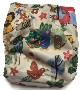 Jungle Friends Hybrid Charcoal Bamboo Cloth Diaper