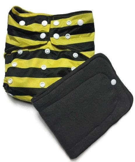 Humble Bumble Hybrid Charcoal Bamboo Cloth Diaper