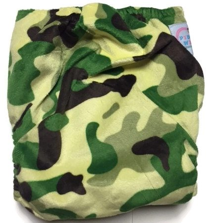 Camouflage Hybrid Charcoal Bamboo Cloth Diaper