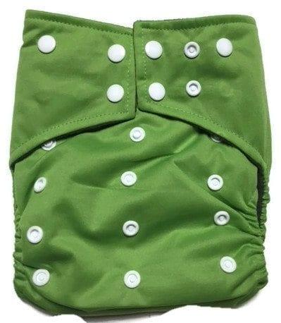 Apple Green Hybrid Charcoal Bamboo Cloth Diaper