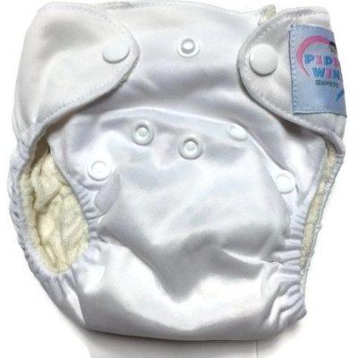 Coconut White Newborn Bamboo Cloth Diaper