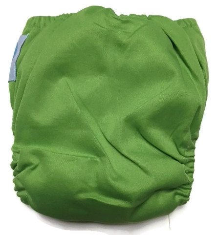 Apple Green Newborn Bamboo Cloth Diaper