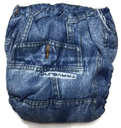 My First Jeans Newborn Bamboo Pocket Cloth Diaper
