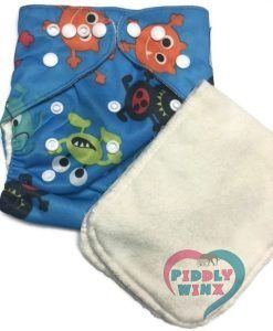 Alien Invasion Bamboo One-Size Pocket Cloth Diaper