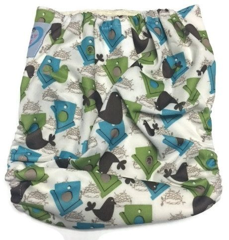 Home For Birdy Bamboo One-Size Pocket Cloth Diaper