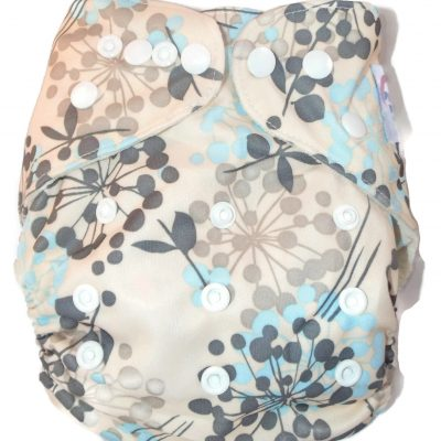 Flowering Fireworks Bamboo One-Size Pocket Cloth Diaper