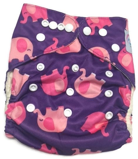 Escaping Elephants Bamboo One-Size Pocket Cloth Diaper