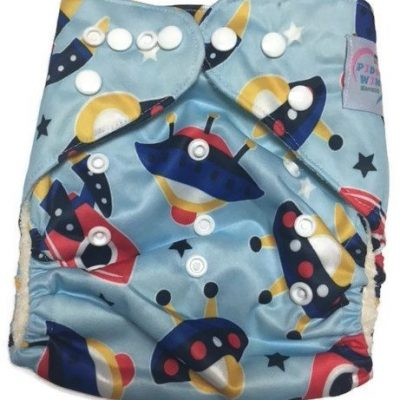 Blast Off Bamboo One-Size Pocket Cloth Diaper