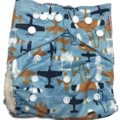 Air Show Bamboo One-Size Pocket Cloth Diaper