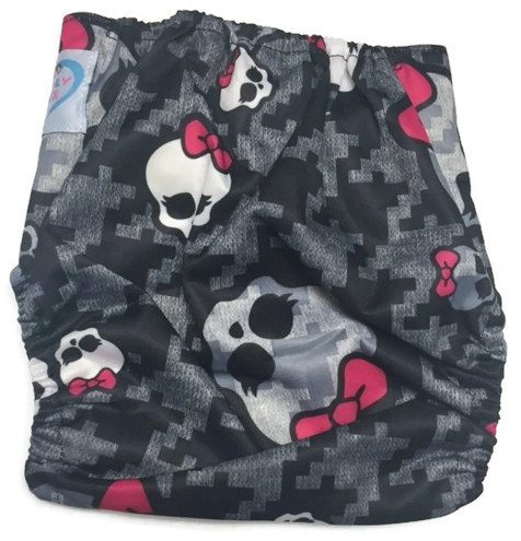 Skullette Bamboo One-Size Pocket Cloth Diaper