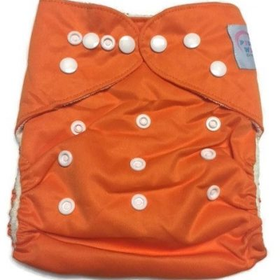 Pumpkin Orange Bamboo One-Size Pocket Cloth Diaper