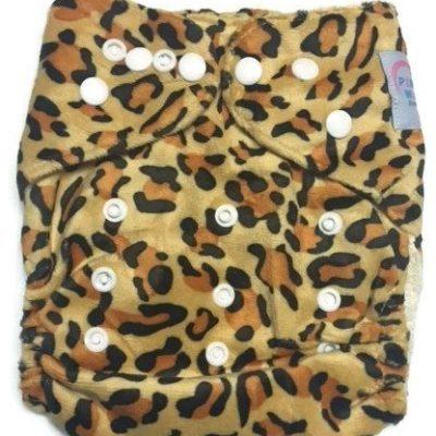 Cheetah Print Bamboo One-Size Pocket Cloth Diaper