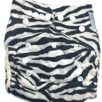 Zebra Print Bamboo One-Size Pocket Cloth Diaper