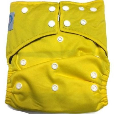 Lemon Yellow Hybrid Charcoal Bamboo Diaper