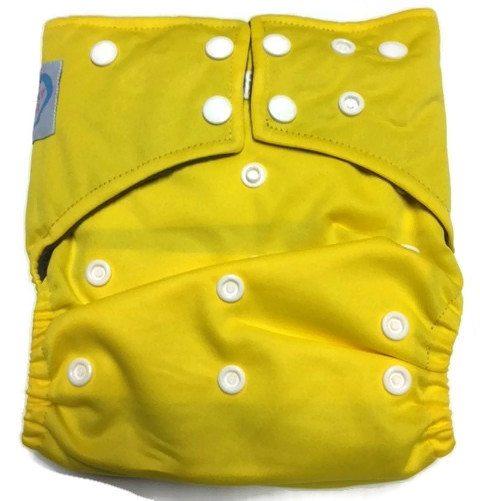 Lemon Yellow Hybrid Charcoal Bamboo Diaper