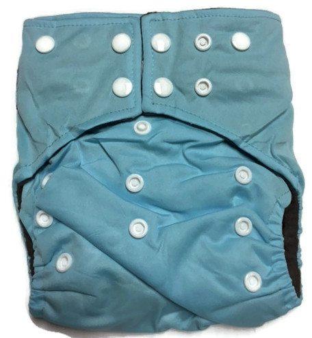 Sky Blue Hybrid Charcoal Bamboo Diaper