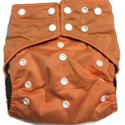 Mango Orange Hybrid Charcoal Bamboo Diaper