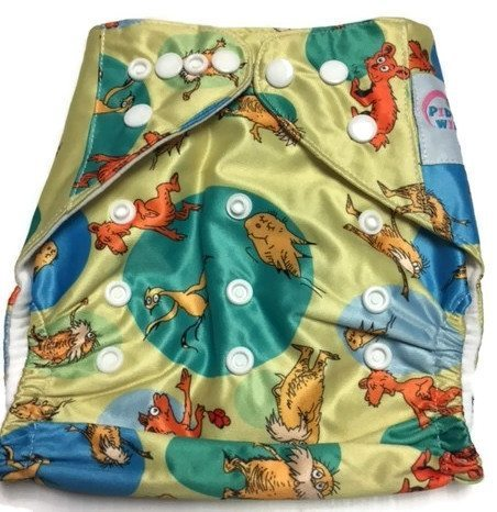 Dr. Seuss and Friends One Size Polyester Cloth Diaper