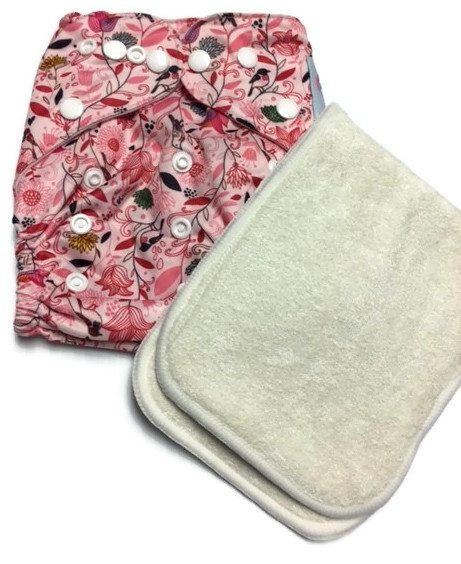Flower Extravaganza One Size Polyester Cloth Diaper