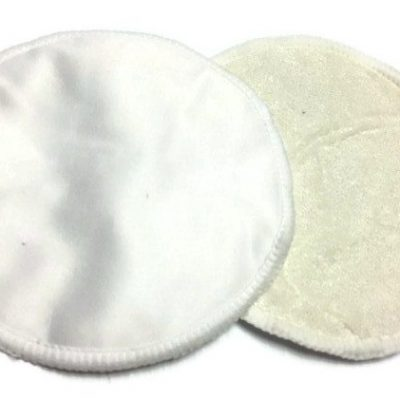 Coconut White Resuable Bamboo Hemp Breast Pads