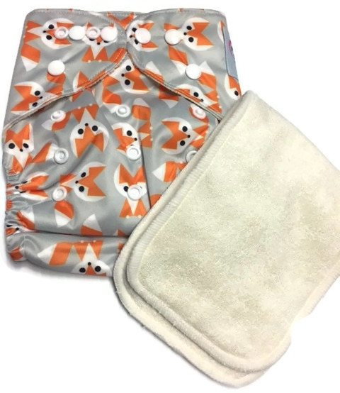 Sneaky Fox Bamboo One-Size Pocket Cloth Diaper
