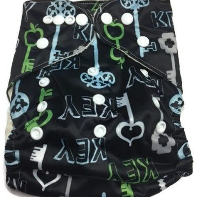 Key To My Heart Bamboo One-Size Pocket Cloth Diaper