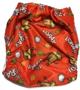 The Lorax Polyester One-Size Pocket Cloth Diaper
